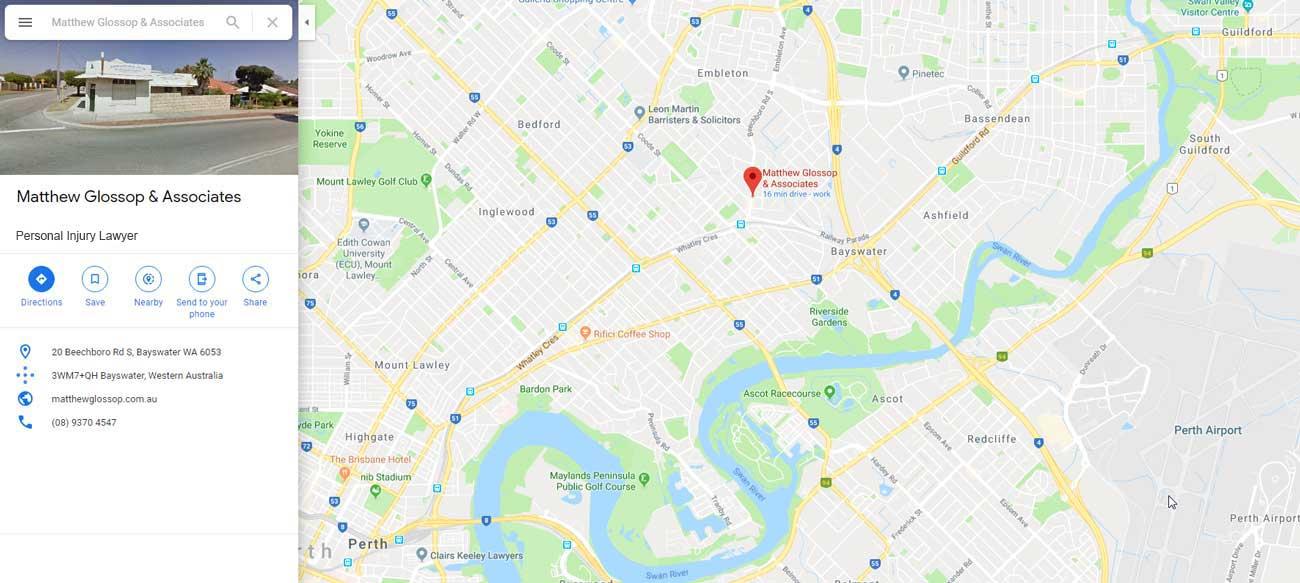 Matthew Glossop & Associates Location